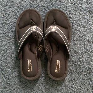Black Champion flip flops